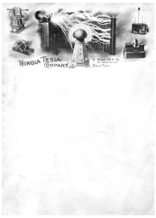 Nikola Tesla's Wicked Cool Letterhead
