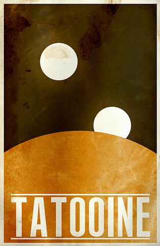 Vintage Inspired Star Wars Posters
