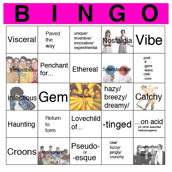 Music Review Cliche Bingo