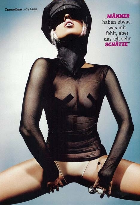 Lady GaGa Nipple Tape Pics in FHM Germany