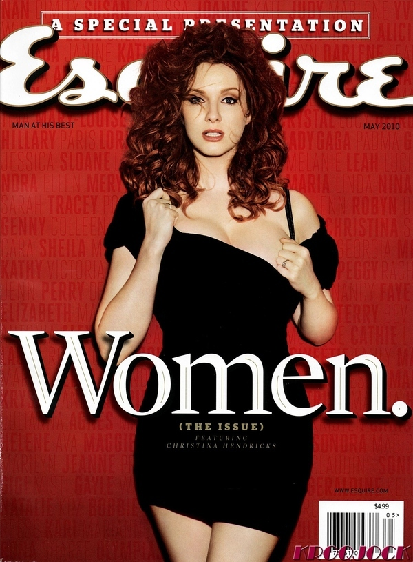 Christina Hendricks is Busting Out On the Cover of Esquire