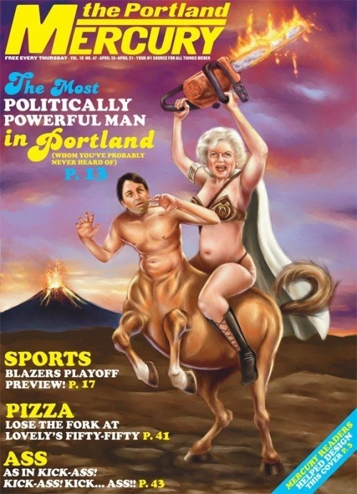 Betty White in a Metal Bikini On a Ritter Centaur