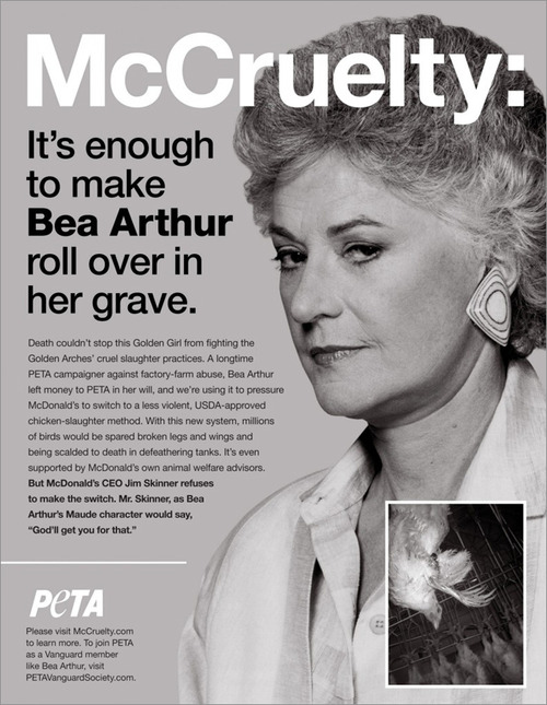 PETA: Dead Animals Are Bad, Dead Celebrities? Totally Okay.