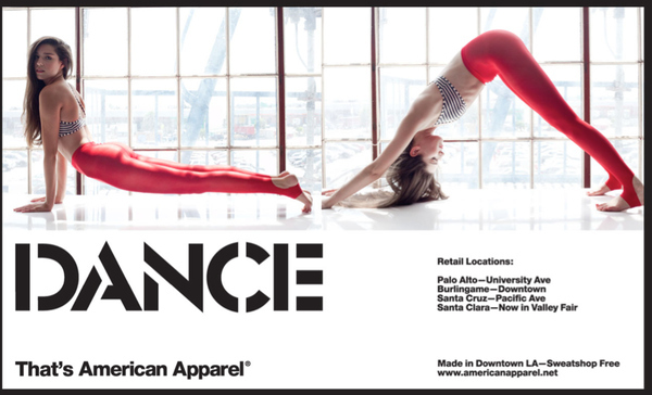 """""""Face Down, Ass Up:"""" American Apparel Gets in Downward Dog"""