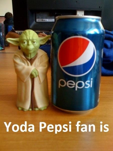Yoda Pepsi Fan is