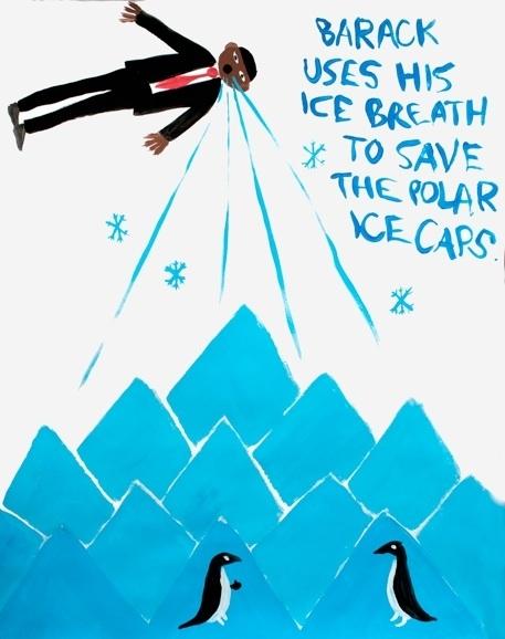 Barack Battles Global Warming