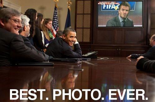 Obama Laughs At Beckham