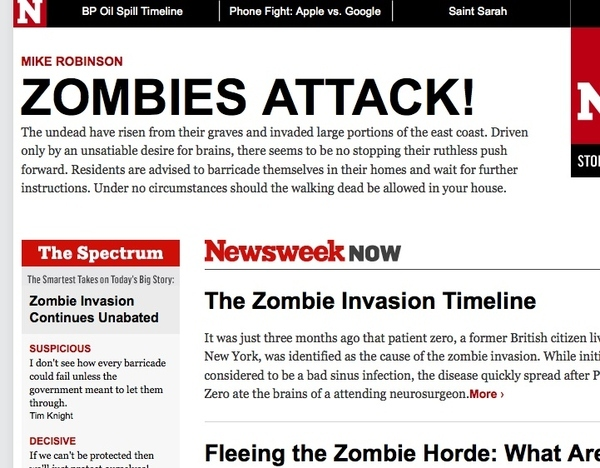 Kanomi Code + Newsweek.com = ZOMBIES ATTACK