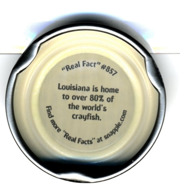 "Snapple ""Real Fact"" #857"