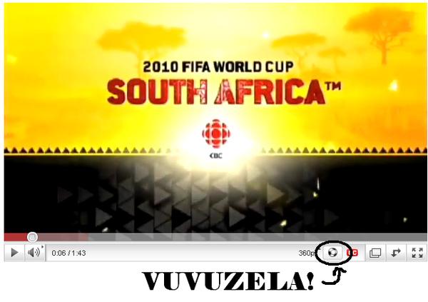 YouTube Adds Vuvuzela Button
