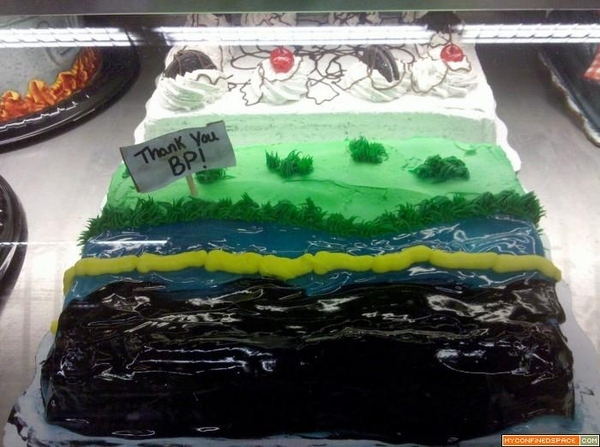 BP Cake Tastes A Little Oily