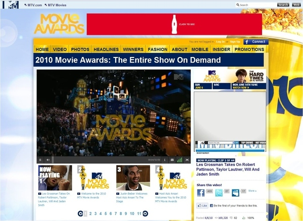 Entire Movie Awards Show On Demand