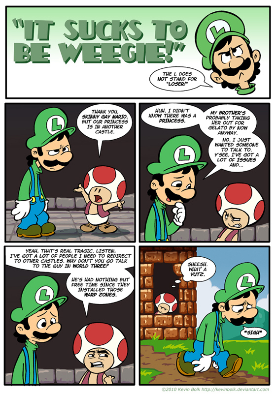"Luigi In: ""It Sucks To Be Weegie"""