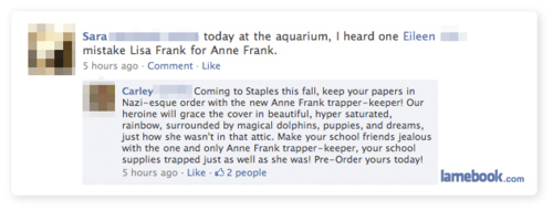 If Anne Frank Designed Trapper Keepers...