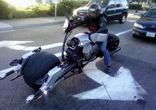 Batman Batpod Custom Motorcycle On the Road