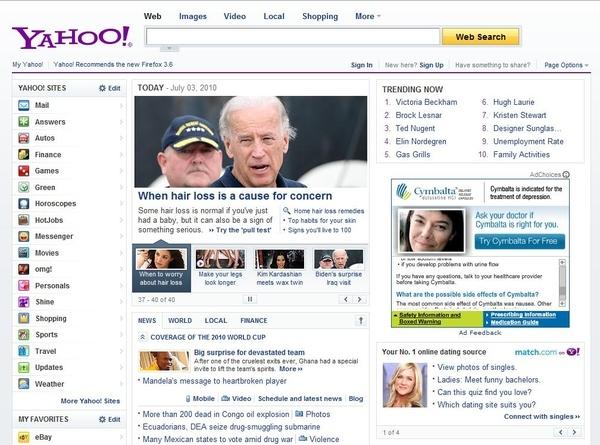 Yahoo Not Being Discreet