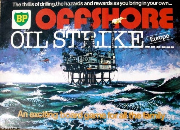 BP's Offshore Oil Strike Board Game (1970)