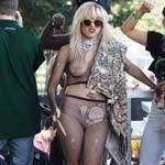 Lady Gaga Performing Half-naked at Lalapalooza