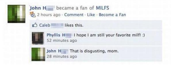 Facebook: Bringing Moms And Sons Together
