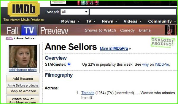 The Saddest Entry On IMDB