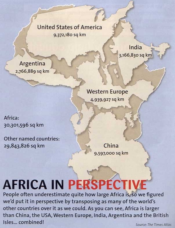 Africa Is Bigger Than You Think