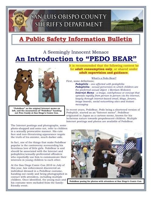 California Sheriffs Department Doesn't Get Pedobear