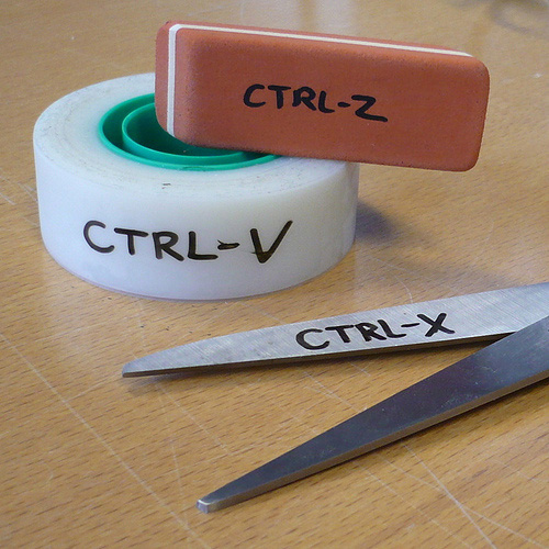 Ctrl-V, Ctrl-X, Ctrl -Z Tools