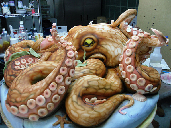The Octopus Cake for an EW Badge