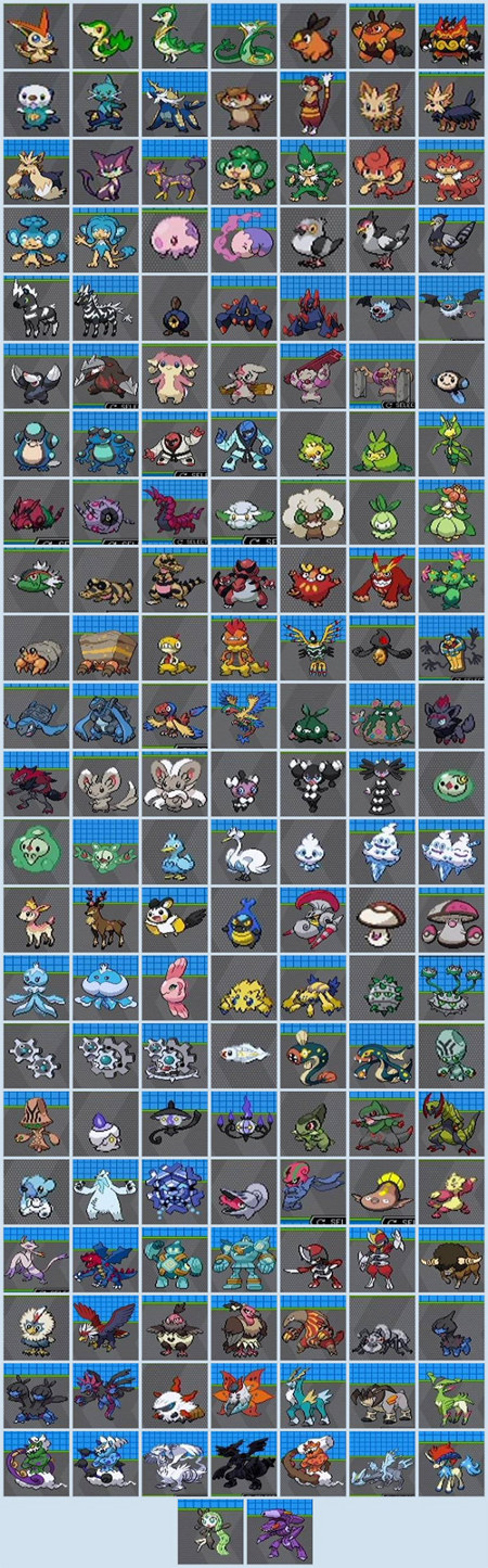 One Big-Ass Picture of All 156 New Pokémon