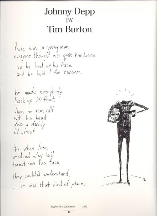 A Poem By Tim Burton