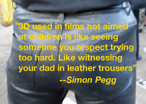 Simon Pegg Tweets Opinion On 3D Movies