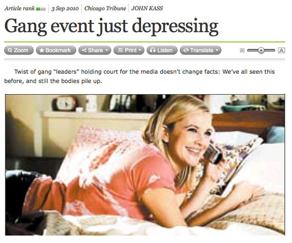 Gang Related Headline of the Day
