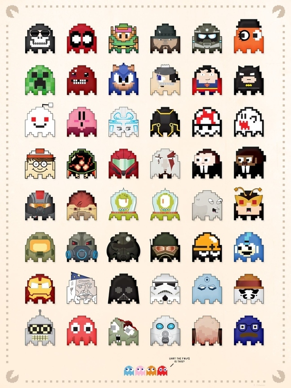 Custom Pac-Man Ghosts