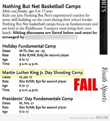 MLK Day Shooting Camp?!