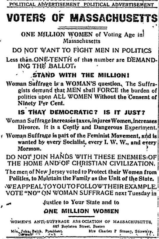 Voting Hurts Women!