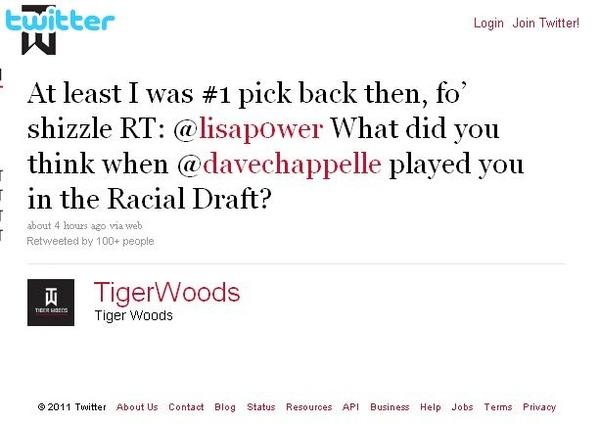Tiger Woods Keeps A Sense Of Humor