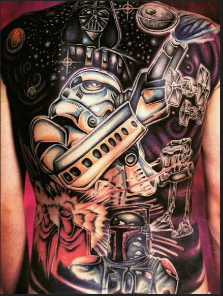 Star Wars Back Tattoo