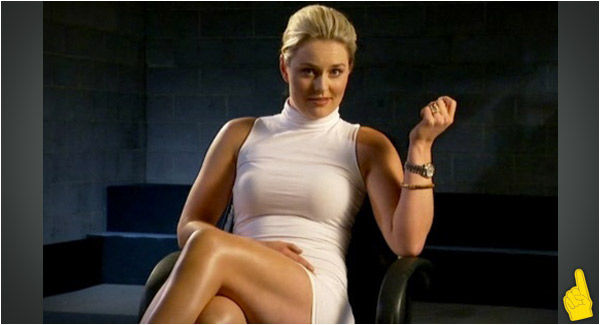 Sports Babe of the Day: Linsday Vonn As Sharon Stone