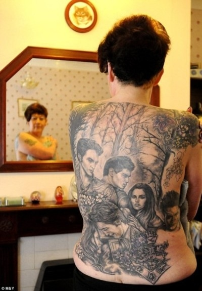 Sweet Twilight Back Tattoo