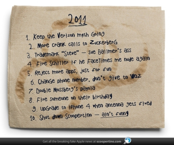 Steve Jobs' New Year's Resolutions