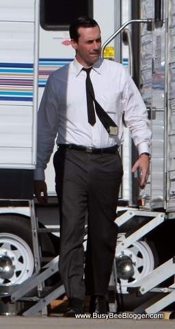 Jon Hamm Returns To The Set Of Mad Men