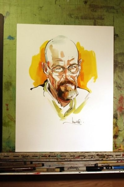 Walter White In Watercolor