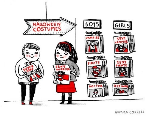 Boy's Halloween Costumes Vs. Girl's Halloween Costumes