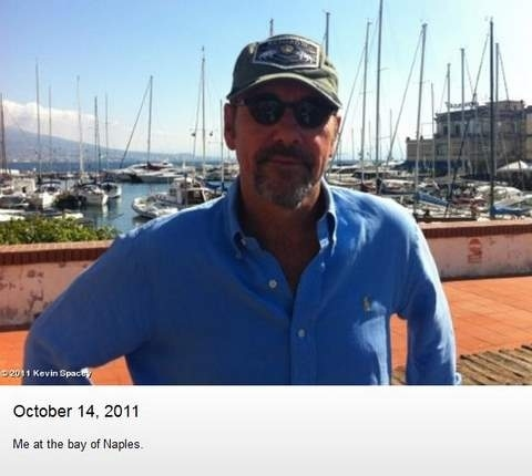 Kevin Spacey Living It Up In Naples