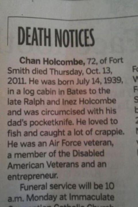 TMI Obituary