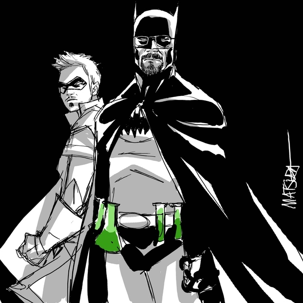 "Batman And Robin Meets ""Breaking Bad"""