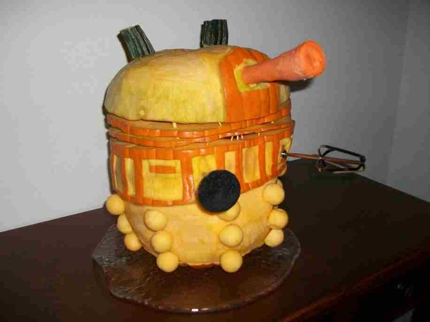 Scary Dalek Pumpkin
