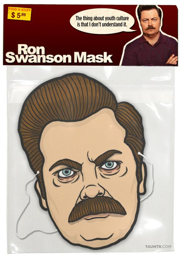 Ron Swanson Halloween Mask