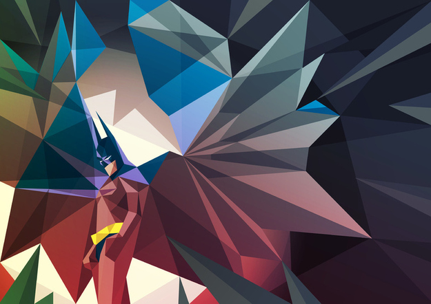 Kick-Ass Geometric Superheroes by Liam Brazier