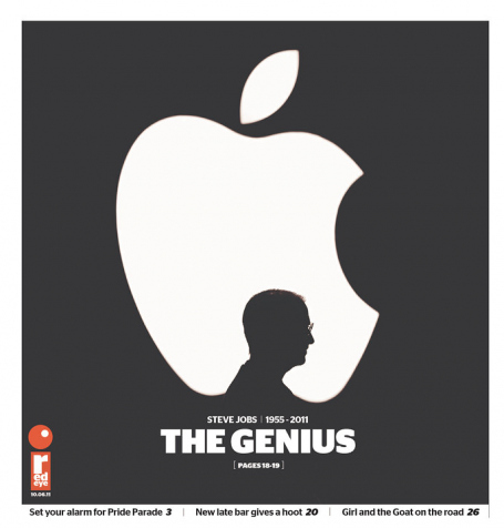 Best Newspaper Tribute to Steve Jobs?
